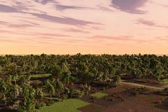 lantgårdträdgård Royaltyfria Bilder