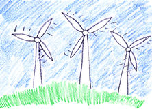 lantgårdturbinwind royaltyfri illustrationer