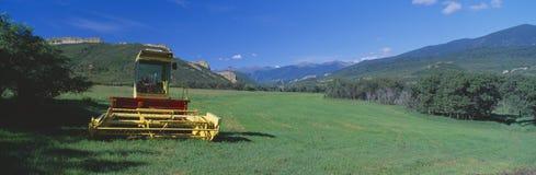 Lantgårdutrustning, Cuchara dal, huvudväg av legender, rutt 12, Colorado fotografering för bildbyråer
