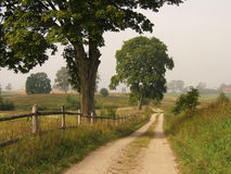 lantgårdväg arkivbild