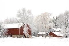 lantgårdvinter Royaltyfria Bilder