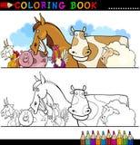 Lantgård- och boskapdjur för färgläggning Arkivbilder