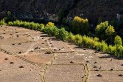 Lantgårdland i Kina Arkivbilder