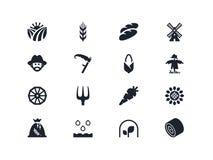 Lantgårdsymboler Lyra serie Royaltyfri Bild
