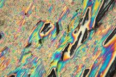 Lanthannitrat unter dem Mikroskop Lizenzfreies Stockfoto
