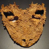 Lanthanosuchus-watsoni - gegoten schedel - Stock Afbeelding