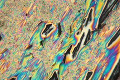 Lanthanum nitrate under the microscope Royalty Free Stock Photo