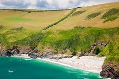 Lantic Bay Cornwall England Royalty Free Stock Photo