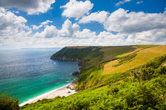 Lantic Bay Cornwall England Stock Image