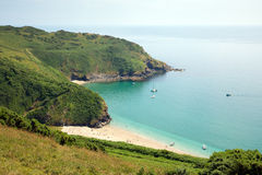 Lantic Bay cove Cornwall England near Fowey Royalty Free Stock Photo