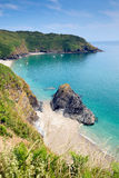 Lantic Bay secluded beach Cornwall England near Fowey Royalty Free Stock Image