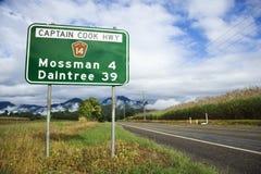lantlig Australien huvudväg Royaltyfri Fotografi