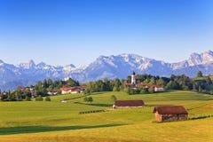 Lantlig by av Bayern Fotografering för Bildbyråer