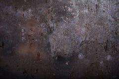 lantlig bakgrund Mörk rostig metalltextur Tappningeffekt arkivfoto