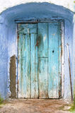 lantlig blå dörr Royaltyfria Bilder