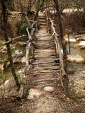 Lantlig bro från journaler Fotografering för Bildbyråer