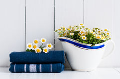 Lantlig dekor för hem- kök Royaltyfri Foto