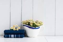Lantlig dekor för hem- kök Royaltyfria Bilder