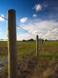 lantlig fenceline Arkivfoto