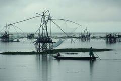 Lantlig fiskstad Fotografering för Bildbyråer