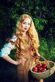 lantlig flicka royaltyfria bilder