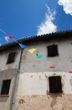 Lantlig Friulian byggnad Arkivfoton