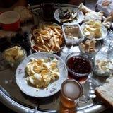 Lantlig frukostkalkon Arkivbilder