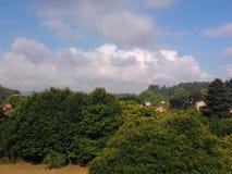 Lantlig Galicia verde Arkivbilder