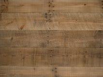 Lantlig gammal brun wood bakgrund Arkivfoton
