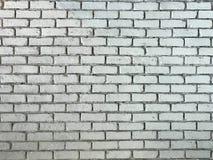 Lantlig gammal vit bild för bakgrund för tegelstenvägg royaltyfria bilder