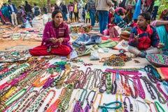 Lantlig gatamarknad i Indien Fotografering för Bildbyråer