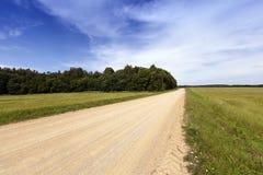 lantlig grusväg Arkivfoto