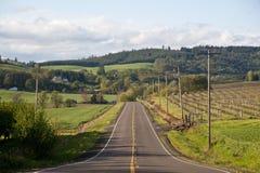 lantlig huvudväg Arkivbild