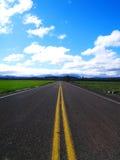 lantlig huvudväg Arkivfoto