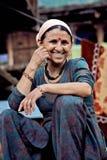 Lantlig indisk kvinna Royaltyfria Bilder