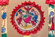 Lantlig indisk stam- konst Arkivbilder