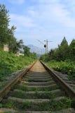 Lantlig järnväg Royaltyfri Fotografi