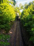 Lantlig järnväggångtunnel Fotografering för Bildbyråer