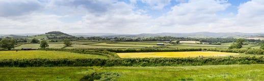 Lantlig jordbruksmark i Devon nära Dartmoor Royaltyfri Bild