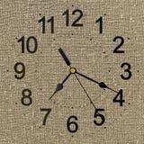 Lantlig klocka för bakgrund Arkivbilder