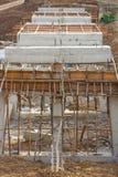 Lantlig konstruktion av konkreta broar arkivbild