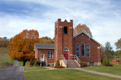 Lantlig kyrka i Virginia Royaltyfria Foton