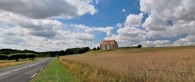 lantlig kyrklig fransk liggande Royaltyfri Fotografi