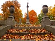 lantlig kyrkogård Arkivbild