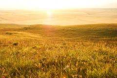 Lantlig liggande på solnedgången Royaltyfri Bild