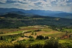 Lantlig liggandefranska Pyrenees royaltyfria bilder