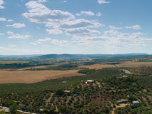 Lantlig liggandefrome över av sydliga Spanien Royaltyfri Fotografi