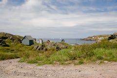 lantlig liten stad för hav Arkivbild