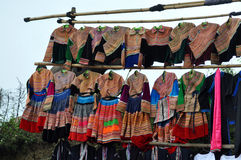 Lantlig marknad i den Bac Ha marknaden, Vietnam Arkivbild