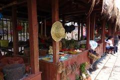Lantlig marknad, Yunnan lopp Arkivfoton